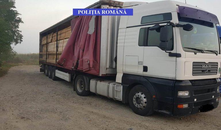 Delict silvic de peste 30.000 de lei, depistat de politiștii din Beclean